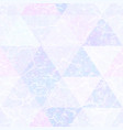 pastel color triangle pattern with grunge effect vector image