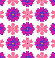 Pattern of colorful flowers vector image