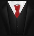 realistic black suit photorealistic 3d mens vector image vector image