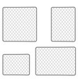 realistic metal chain link fence art design gate vector image