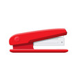 red plastic stapler device for fastening sheets vector image vector image