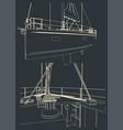 sailing yacht sketches vector image vector image