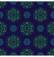 Seamless Green Blue Floral Mandala Pattern vector image vector image