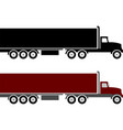 semi truck and trailer simple vector image