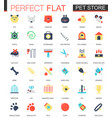 set flat pet friend icons vector image vector image