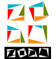 Set of abstract colorful square icons logotypes