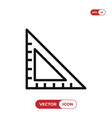 set square icon vector image vector image