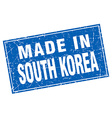 South Korea blue square grunge made in stamp vector image vector image
