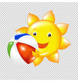 sun with ball vector image vector image