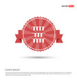 test tube icon - red ribbon banner vector image