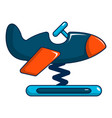 toy airplane icon cartoon style vector image vector image