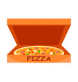 traditional italian pizza flat vector image