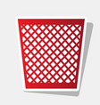 trash sign new year reddish vector image