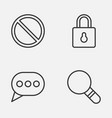 web icons set collection of safeguard research vector image vector image