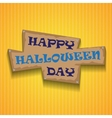 yellow halloween background with frame and text vector image vector image