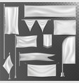 different realistik flag template white blank vector image