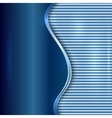 abstract blue background with curve and stripes vector image