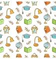 Seamless school pattern vector image
