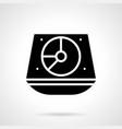 turntable mixer glyph style icon vector image