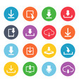 download button icon set vector image