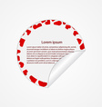 Paper stickers with hearts Design elements vector image
