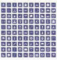 100 children activities icons set grunge sapphire vector image vector image