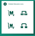 4 relocation icons vector image vector image