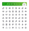 American Football Line Icons Set vector image vector image