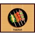 Asian Yakitoris Skewers Set vector image