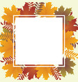 autumn backround vector image vector image