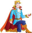 blond prince vector image