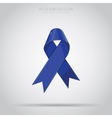 Blue bow isolated vector image vector image