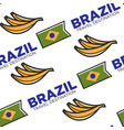 brazil travel destination national flag and banana vector image vector image