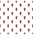 cactus plant pot pattern seamless vector image vector image