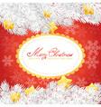 christmas tree stars invitation golden card vector image vector image