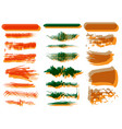 colorful set brush strokes double vision vector image