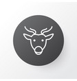 deer icon symbol premium quality isolated moose vector image
