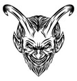 demons with scare face and glare eye vector image vector image