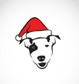 dog and santa hats vector image