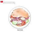 Doner Kebab A Famous Dish in Turkey vector image