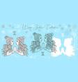 doodle set with gemini zodiac symbol vector image vector image
