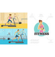 flat fitness composition vector image