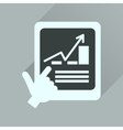 Flat icon with long shadow economic Presentation vector image vector image