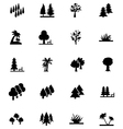Forest Solid Icons 3 vector image vector image