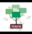 Forum Tree in green and brown color vector image vector image
