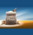 full bag of white flour vector image vector image