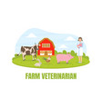 girl farmer standing on background summer rural vector image vector image