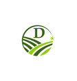 green project solution center initial d vector image vector image
