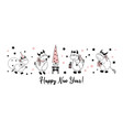 happy new year postcard horizontal with bulls vector image vector image