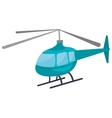 Helicopter icon isolated on white background vector image vector image